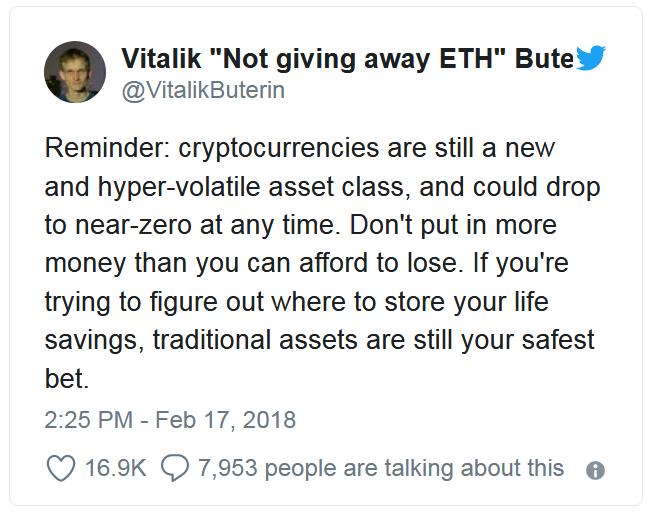 Vitalik Buterin figyelmeztet kripto pénzügyi fitnesz