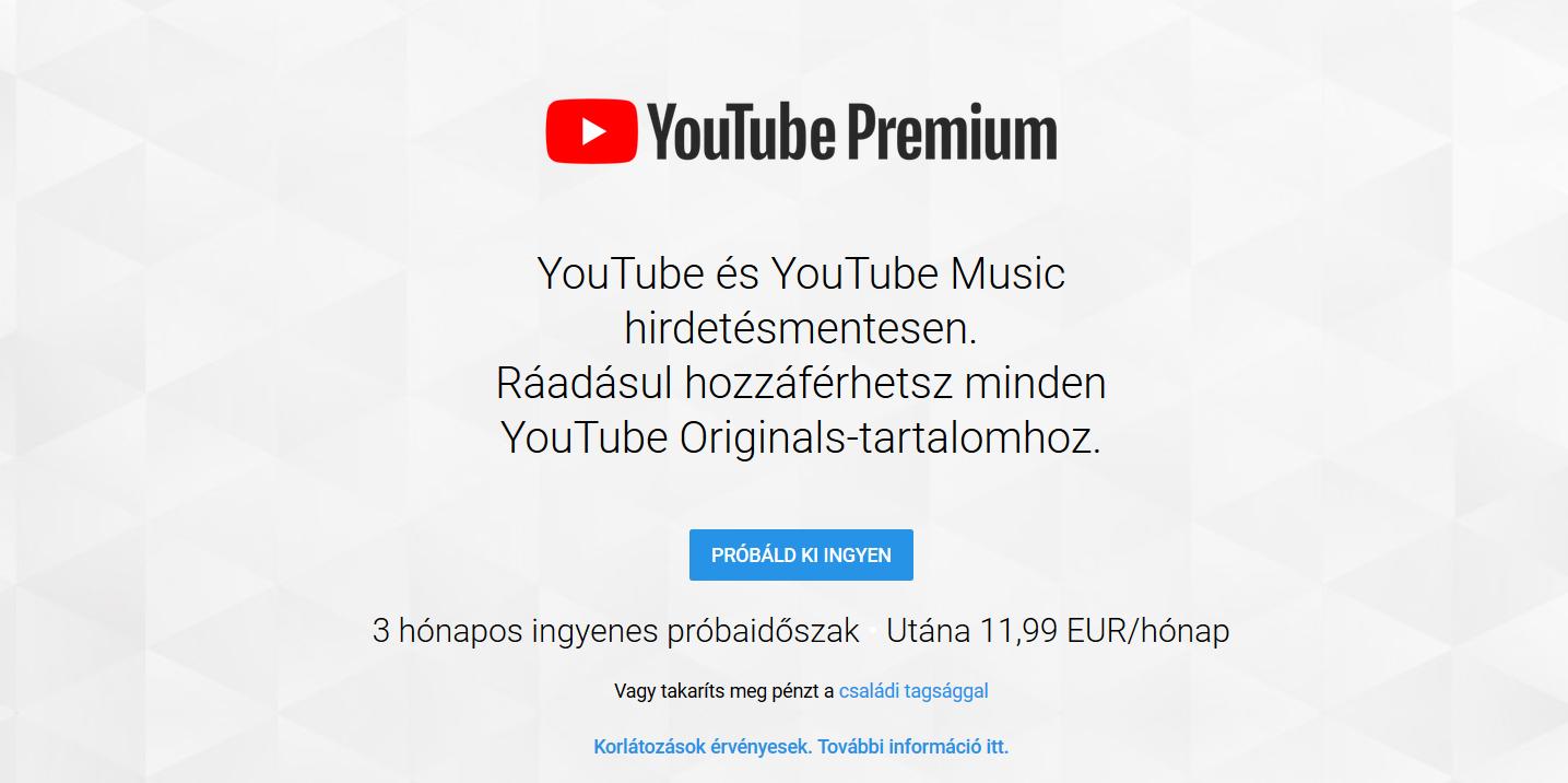 Youtube premium 1 pénzügyi fitnesz