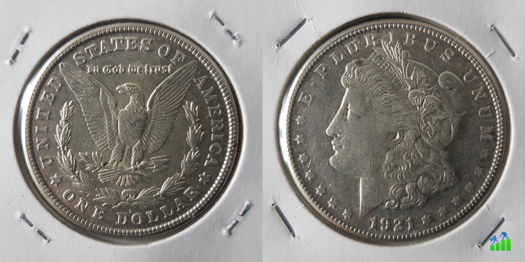 amerikai Morgan dollár ezüst silver pénzügyi fitnesz