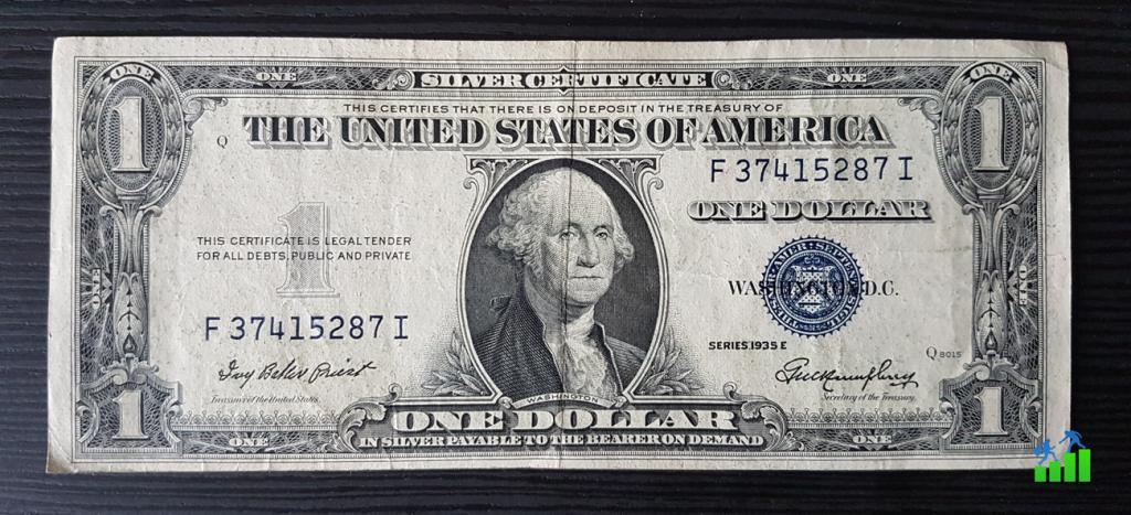 amerikai dollár ezüst silver certificate pénzügyi fitnesz