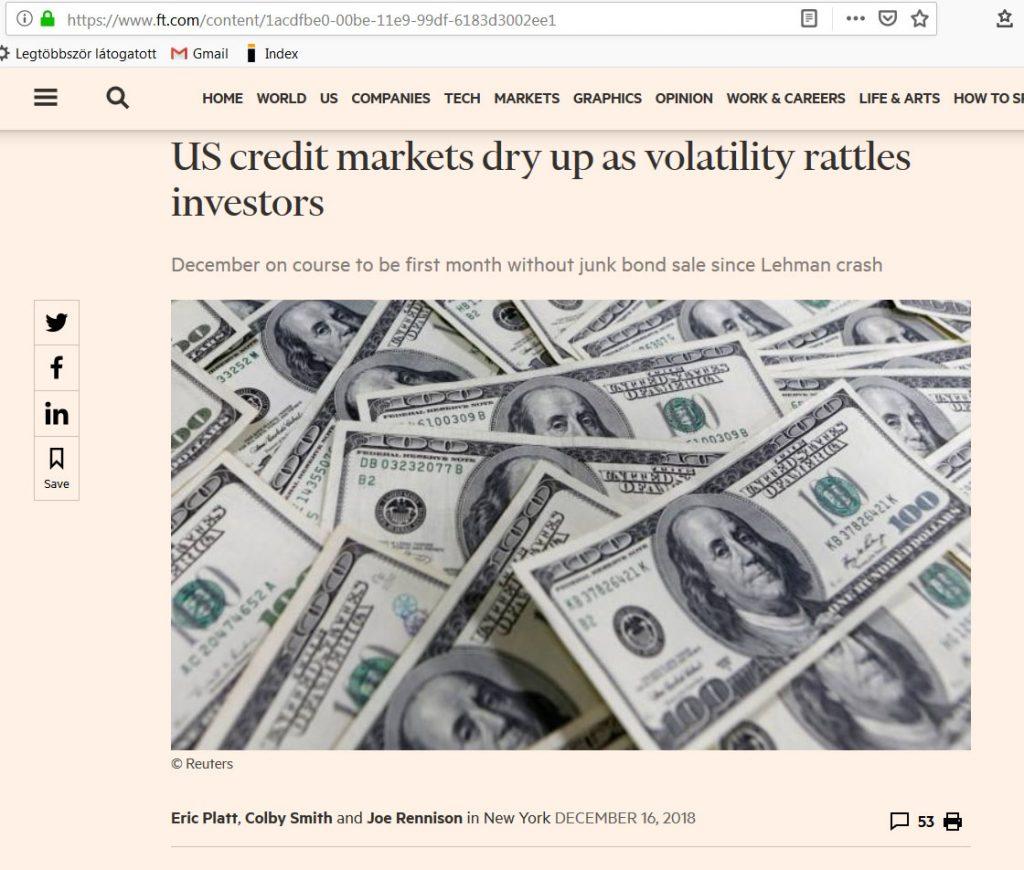 hitelpiac vége junk kötvény eladások pénzügyi fitnesz 1