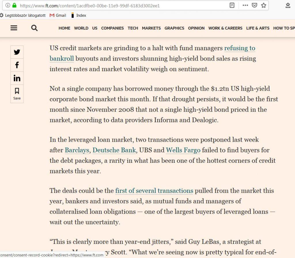 hitelpiac vége junk kötvény eladások pénzügyi fitnesz2