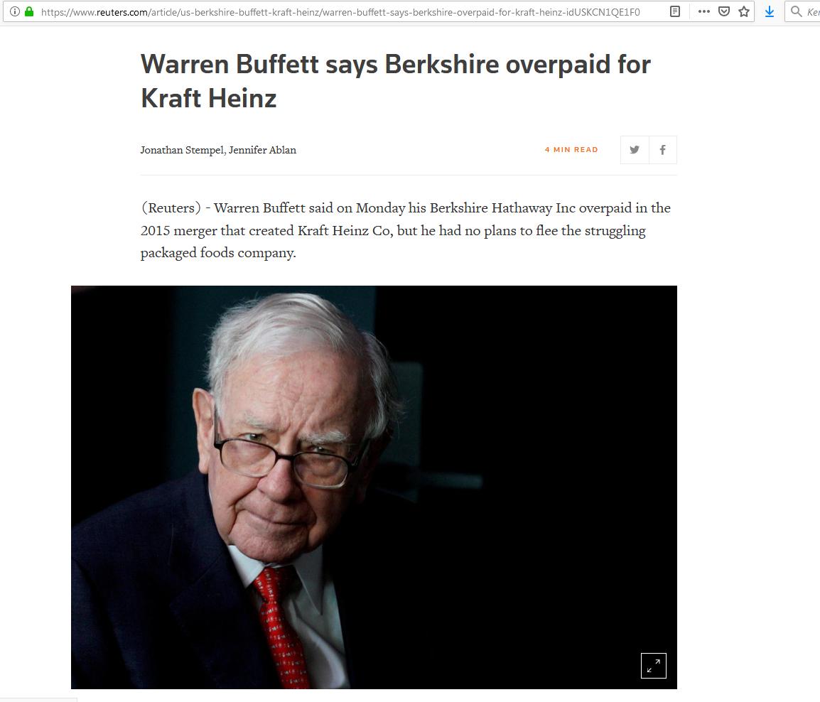 Buffett kraft heinz bukás 1 pénzügyi fitnesz