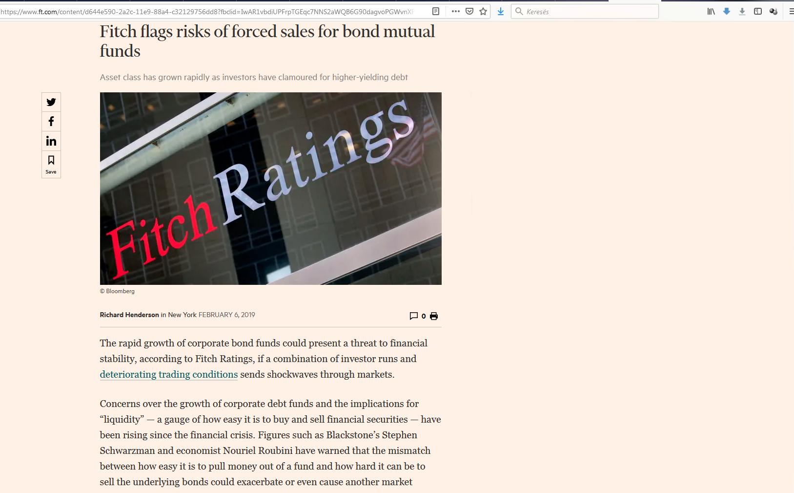 Fitch vállalati kötvény alapok 1 pénzügyi fitnesz